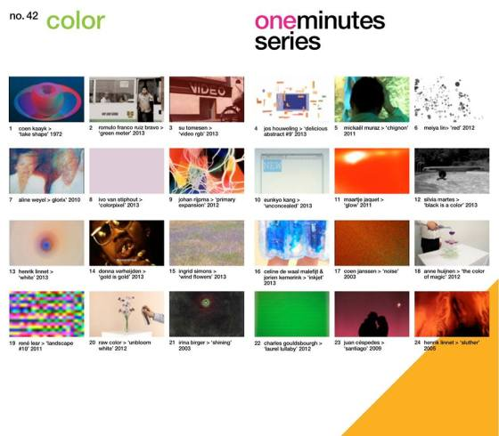 one minutes series - color